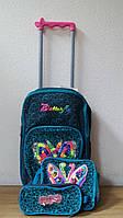 Набор: рюкзак  на  колесах 42*32*15 см+сумка+пенал Бабочка, DSCN1991