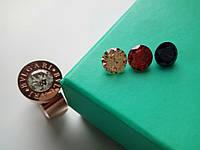 Женское кольцо Bvlgari булгари (копия) 17 розовое золото