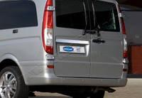 MERCEDES VIANO MPV W639 (2004-2014) Накладка над номером на багажник (нерж.) Omsa