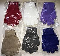 Перчатки детские, однотонные, 2-4 года (расцветки в наличии для мальчиков и девочек)