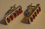 Сережки 29400ММр, срібло 925 проба, кубічний цирконій., фото 2