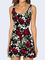 Платье Розы на чёрном