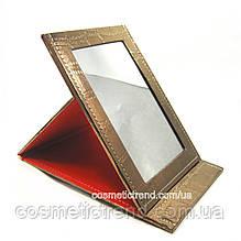 Зеркало-планшет косметическое настольное раскладное (дорожное) T5207bronze