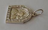 """Подвес-ладанка """"Богородица"""" 31060ММ, серебро 925 проба, цирконий., фото 2"""