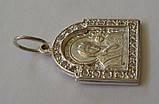 """Подвес-ладанка """"Богородица"""" 31060ММ, серебро 925 проба, цирконий., фото 3"""