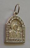 """Подвес-ладанка """"Богородица"""" 31060ММ, серебро 925 проба, цирконий., фото 4"""