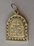 """Подвес-ладанка """"Богородица"""" 31060ММ, серебро 925 проба, цирконий., фото 5"""