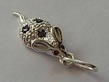 Підвіс мишка 30600ММ, срібло 925 проба, кубічний цирконій., фото 4