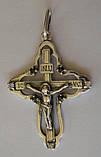 Підвіс хрест КР0060М, срібло 925 проба, кубічний цирконій., фото 2