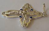 Підвіс хрест КР0060М, срібло 925 проба, кубічний цирконій., фото 3