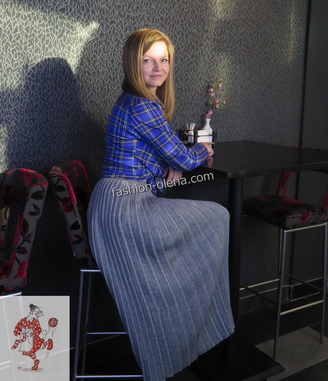05c041e91e9 Вязаная юбка плиссе длинная  продажа
