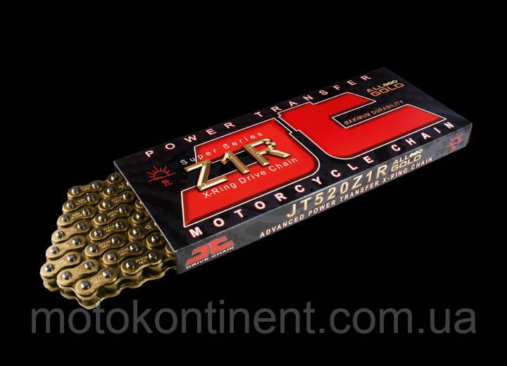 Мото ланцюг 530 116 ланок JT JTC530Z1RGG сальник X-Ring золота Посилена
