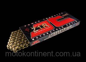 Мото цепь 530 114 звеньев JT JTC530Z1RGG сальник X-Ring  золотая  Усиленная