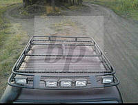 Багажник на крышу экспедиционный усиленный черный мат Lada Niva (лада нива / ВАЗ 2121/ ВАЗ 2131) 1977+