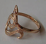 Кольцо 102050ЮМ, золото 585 проба, кубический цирконий., фото 5
