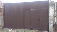 Ворота из профнастила 3 м х 5,2 м, фото 1