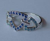 Кольцо КЦ0237МД, серебро 925 проба, кубический цирконий.