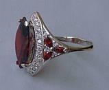 Кольцо КН662МД, серебро 925 проба, кубический цирконий., фото 2