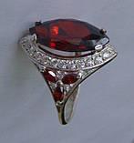 Кольцо КН662МД, серебро 925 проба, кубический цирконий., фото 3