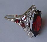 Кольцо КН662МД, серебро 925 проба, кубический цирконий., фото 4