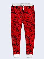 Брюки Красные розы