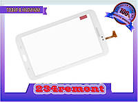 Сенсорное стекло Samsung Tab3 SM-T210, P3200 белый