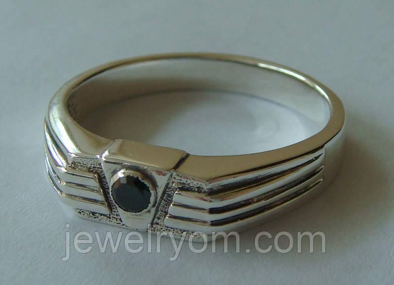 Кольцо КМ845MД, серебро 925 проба, кубический цирконий.