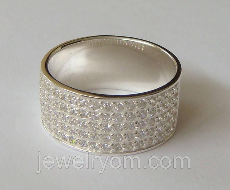 Кольцо КЕ866МД, серебро 925 проба, кубический цирконий.
