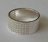 Кольцо КЕ866МД, серебро 925 проба, кубический цирконий., фото 2