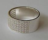 Кольцо КЕ866МД, серебро 925 проба, кубический цирконий., фото 3