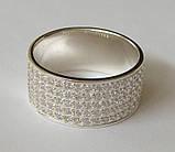 Кольцо КЕ866МД, серебро 925 проба, кубический цирконий., фото 4