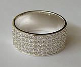 Кольцо КЕ866МД, серебро 925 проба, кубический цирконий., фото 5