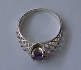 Кольцо КЕ730МД, серебро 925 проба, кубический цирконий., фото 4