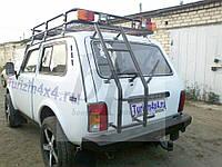 Лестница на крышу черный мат Lada Niva (лада нива / ВАЗ 2121/ ВАЗ 2131) 1977+