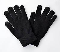 Сенсорные тонкие перчатки. Унисекс. Черные.