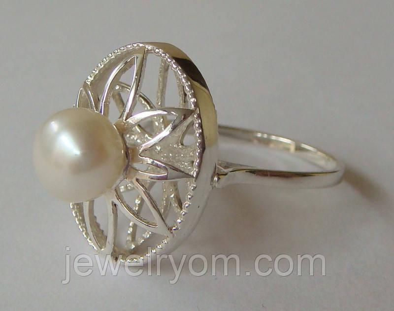 Кольцо КЕ428МД, серебро 925 проба, жемчуг.