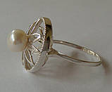 Кольцо КЕ428МД, серебро 925 проба, жемчуг., фото 2