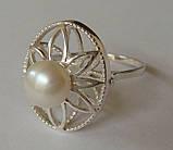 Кольцо КЕ428МД, серебро 925 проба, жемчуг., фото 3