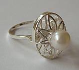 Кольцо КЕ428МД, серебро 925 проба, жемчуг., фото 5
