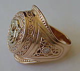 Кольцо КМ0494MД, золото 585 проба, кубический цирконий., фото 2