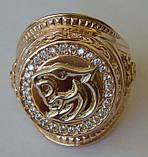 Кольцо КМ0494MД, золото 585 проба, кубический цирконий., фото 3