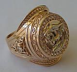 Кольцо КМ0494MД, золото 585 проба, кубический цирконий., фото 4