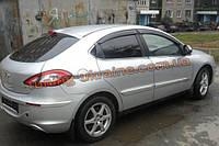 Дефлекторы окон (ветровики) COBRA-Tuning на CHERY M11 Sedan 2008+