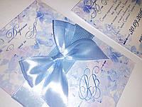 Приглашение в конверте с лентой