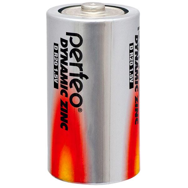 Perfeo батарейка R20 D 1,5V, Dynamic zinc, Shrink/2