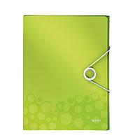 Папка-бокс ПП WOW, зеленый металлик