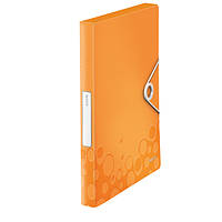 Папка-бокс ПП WOW, оранжевый металлик