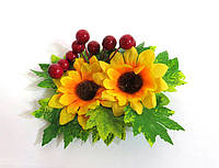 Заколки, резинки из цветов
