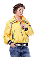 Женская желтая осенняя куртка р. 42-54 арт. 949 Тон 15