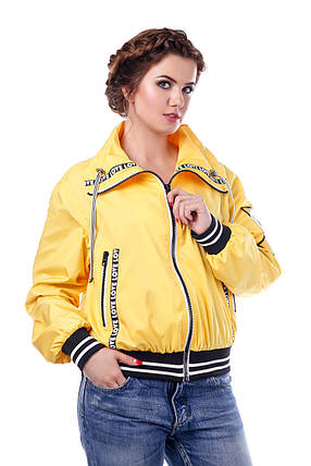 Женская желтая осенняя куртка р. 42-54 арт. 949 Тон 15, фото 2